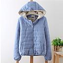 algodón delgado engrosamiento cálido tipo corto gran patio capa de los Zebro mujeres