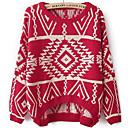 coinciden Wode de las mujeres todos los suéter termal de época tejido de punto de manga larga