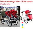 conjunto entero bicicleta Taga para los gemelos añadiendo  2  funda de lluvia ruituo ™ 3 ruedas bicicleta Taga 16inch bebé cochecito 3 en 1