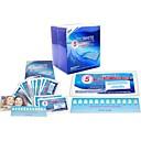 28pcs tiras de blanqueamiento de dientes de menta sabor para los dientes blanqueador de uso doméstico paquete económico