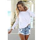 manga de ajuste flojo de Gigi mujeres de color sólido camiseta larga