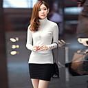 CCstory Women's High Neck Long Sleeve Knitwear T-Shirt