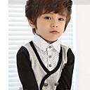 Boys Fashion Casual British School Style Gentlemen Long Sleeves Grid Lapel Sweatshirt