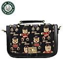 Daka Bear bolsa de lona del mensajero del hombro de moda para mujer del bolso del ocio del bolso del totalizador