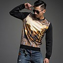 ICED™ Mens Fashion Round Collar Printing Loose Pullover T-Shirts