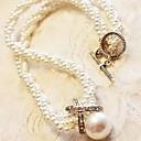 jamp;collar corto d clásico de perlas de imitación