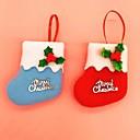 adornos para árboles de Navidad linda decoración navidad paño pequeño colgante (colores aleatorios)