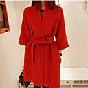 Womens All Match Wineter Fashion Tweed Coat