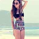 alta cintura patrón geomatric conjunto de las mujeres de las mujeres qearl bikini vendimia