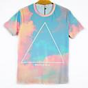 la moda de los hombres de arándanos 3d imprimir corta camiseta 2001