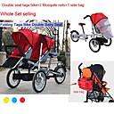 ruituo ™ bicicleta Taga plegable madre 16inch bebé cochecito 3 en 1 asientos dobles bicicleta Taga 2 neta mosquite agregando  1 bolsa de lado