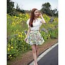 coolcube moda falda de gasa de impresión de las mujeres