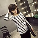 Belon de las mujeres del invierno 2014 nueva causal de moda modelo de las rayas camiseta