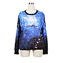 Weige azul galaxia suéter de impresión wy1021 de las mujeres