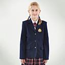Armada dos bolsillos chaqueta uniformes escolares de las niñas