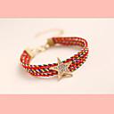 moda temperamento elegancia de diamantes de imitación pulsera de estrella de cinco puntas as-k de la mujer