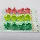 4pc animales en forma tridimensional molde de la torta del molde de pasta de azúcar (más colores)