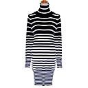 YDW Womens Fashion Stripes Pattern Knit Sweater Dress 8498