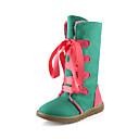 botas altas francis gato de la manera rodilla cordones de los zapatos de las mujeres 71-131 verdes