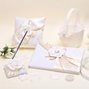 brillantes conjuntos de flores (juego de cuatro, sostenedor de la pluma, de libros, de almohada anillo, cestas de flores se incluye)