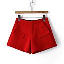 bolsillo de la falsificación de las mujeres Sanli todos los pantalones cortos de los partidos