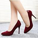 elegante color sólido de las mujeres Feicai todos los zapatos de tacón alto de los partidos