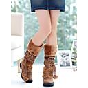 altas botas de moda de piel de gato francis medio de la rodilla de las mujeres 71-808