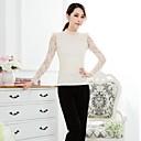 Womens O Neck Cutout Lace Shirt(More Colors)