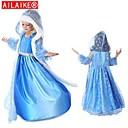 ailaike muchachas de la ropa 2014 de vestir elsa congelado vestidos túnica traje congelado