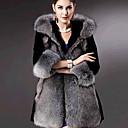 abrigo de cuello de piel de Nina pc005 mujeres