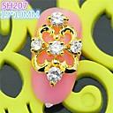 10PCS SH207 Special Hollow Out Design Luxury Zircon 3D Alloy nail art DIY Nail beauty Nail Decoration Nail Salon