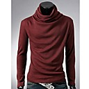 camisa de manga larga de color sólido cuello alto de quteng hombres
