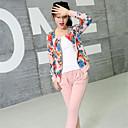 abrigo de la personalidad estampado floral clásico de la moda coreana de las mujeres soho
