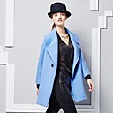 DMI™ Womens Long Lapel Wool Double-breasted Tweed Coat
