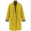 collar del soporte del color sólido abrigo de lana