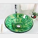 12mm verde aladdintempered fregadero recipiente de vidrio con grifo conjunto emperador