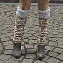 uno xuan calcetines debajo de la rodilla de tejido jacquard para mantener el calor y proteger la pierna