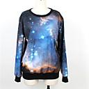 Weige azul galaxia suéter de impresión wy1006 de las mujeres