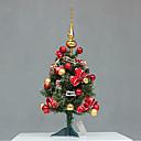 """10 """"árbol de navidad de flores de color rojo, de plástico"""