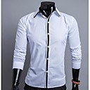 camisa de color de bloqueo de los hombres mandy