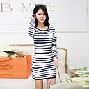 2014 nuevas rayas casual Xinfu ™ mujeres visten el vestido delgado