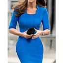 color sólido vestido bodycon equipado tm1345 de las mujeres dresss