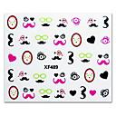 5PCS Colorful Cartoon Monkey Pattern Top Grade Nail Art Stickers