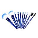 10pcs perla azul con una bolsa de nylon del pelo del maquillaje sistemas de cepillo de alto grado