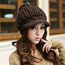 HouTong Women Fashion Knitting Peaked Hat
