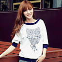 Loria Womens Round Neck Long Sleeve Floral Print T-Shirt