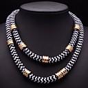 collar de cadena de cuerda mulitlayer joyería jq de las mujeres
