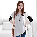 One Xuan  Womens Long Sleeve  Chiffon  False Two Piece Shirt