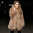 invierno cálido abrigo de piel de imitación L091 gy de las mujeres