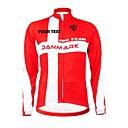 KOOPLUS Unisex Winter Customized Cycling Clothing Denmark Long Sleeve Thermal Fleece Cycling Jersey